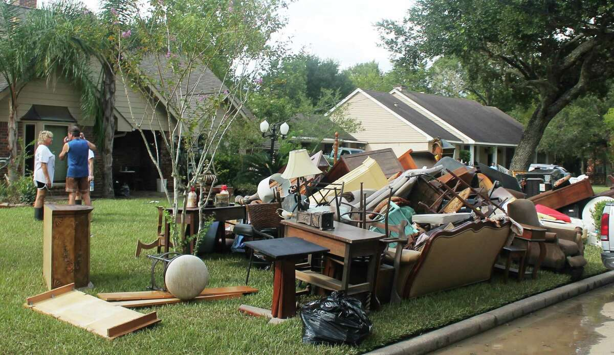 Sights like this are finally history in Friendswood after crews removed about 135,000 cubic yards of debris from Hurricane Harvey in an effort that took months.