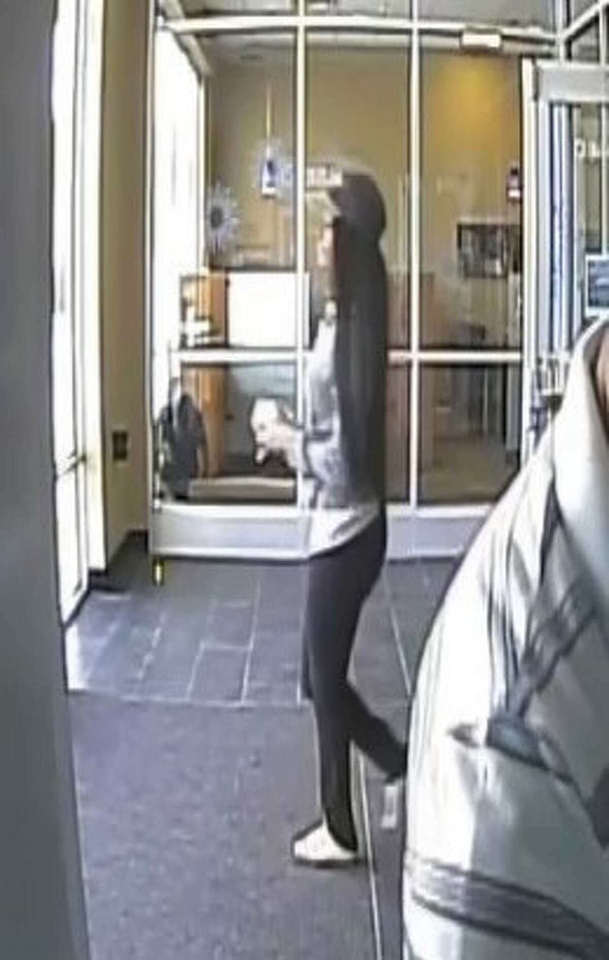 The FBI and Crime Stoppers are searching for a woman who the Chase Bank at 10243 Kempwood Drive in Houston on Friday, Nov. 17.