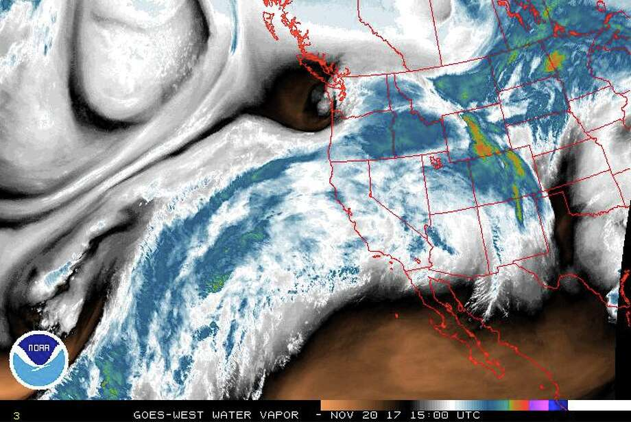 A warm, wet front is expected to head into the Northwest Tuesday, pushing snow levels to 9,000 feet and dumping heavy rains across the region. The rainfall could push some rivers to flood stage. Photo: National Weather Service