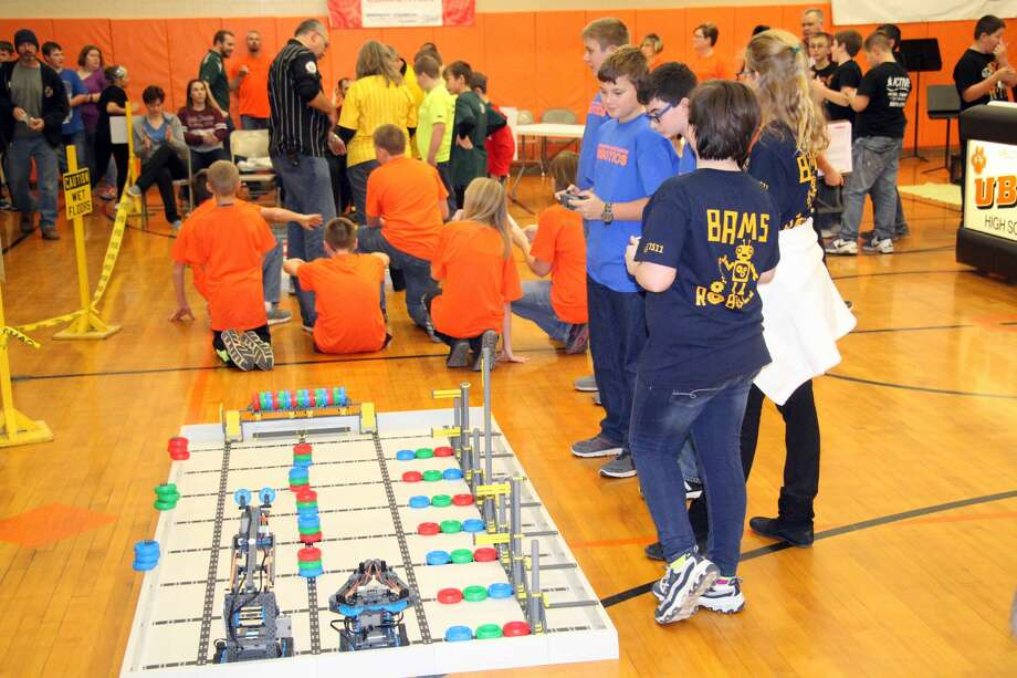 Fun times at Ubly Robotics Competition Friday night. Photo: Seth Stapleton/Tribune Staff Writer