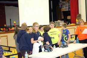 Fun times at Ubly Robotics Competition Friday night.