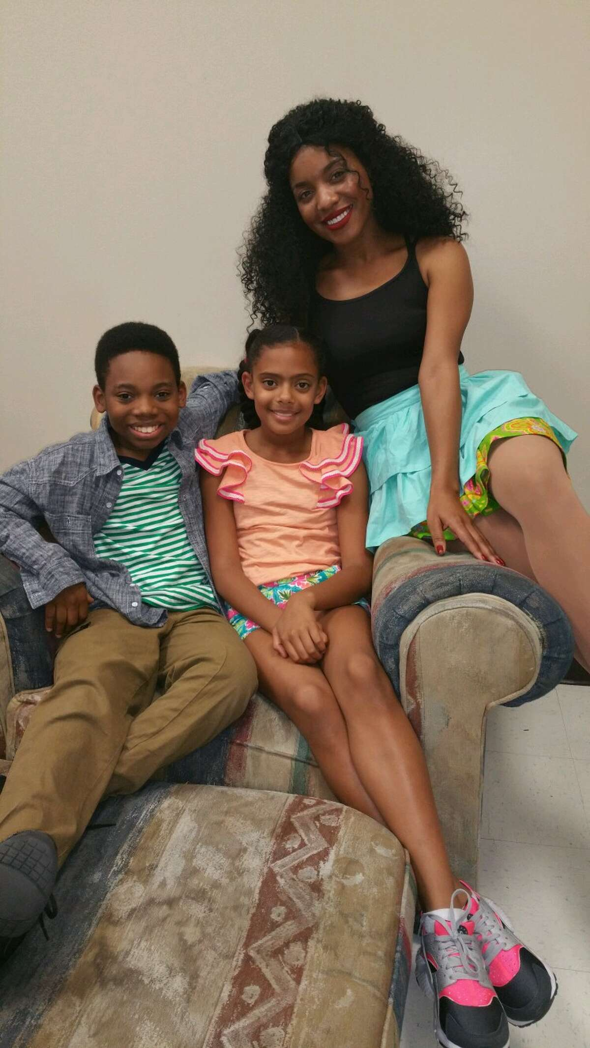 Texas City actress Eboni Williams, right,are performing with Kyle Anthony Mosley and Kai Tregre, both of Pearland, in the new musical, Â?