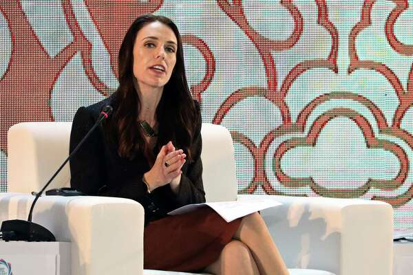 Jacinda Ardern, New Zealand's prime minister, speaks during the Asia-Pacific Economic Cooperation on Nov. 10.