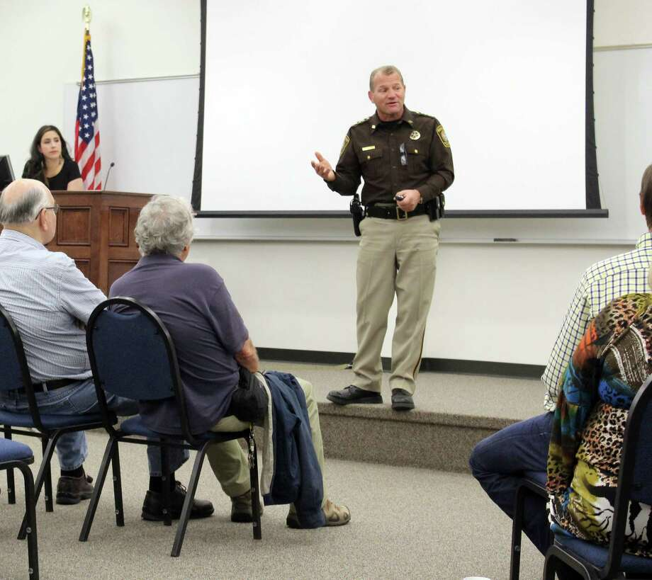Fort Bend County Sheriff Troy Nehls answers questions during a community chat. Photo: Kristi Nix / Houston Chronicle