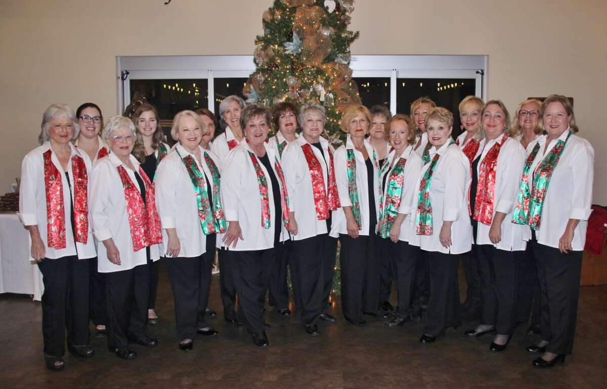 Sugar Land Sound Chorus, a Chapter of Sweet Adelines International, will perform at the CASA Christmas Home Tour at 7 p.m. Friday, Dec. 8, and at the Sugar Land Holiday Lights Constellation Field at 7 p.m. Thursday, Dec. 21.