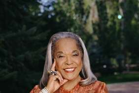 Promotional portrait of American gospel singer and actress Della Reese, from the television show 'Touched by an Angel,' 2000. (Photo by Cliff Lipson/CBS Photo Archive/Getty Images)
