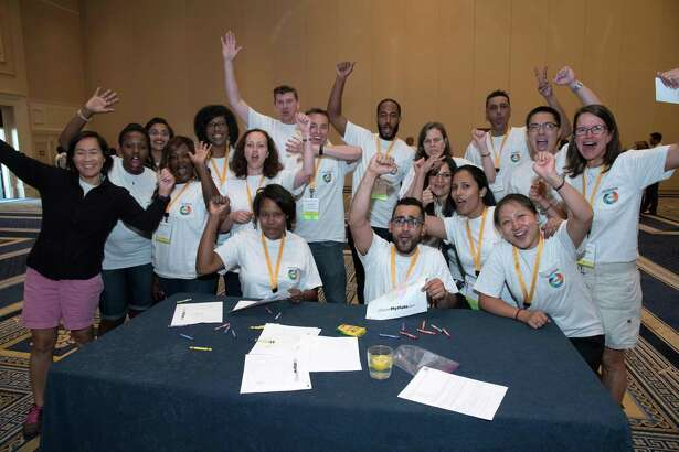 Synchrony Financial employees gather at the company's diversity symposium held in July 2016, in Washington, D.C.