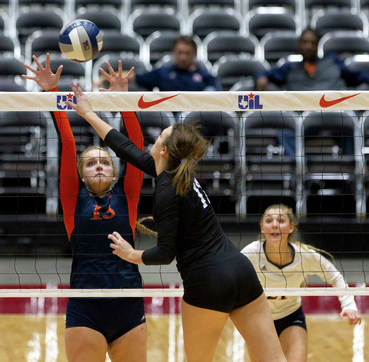 CHRONICLE'S ALL-GREATER HOUSTON VOLLEYBALL TEAM  First team OH/MB: Dani Batenhorst, Sr., Seven Lakes Her 252 kills and 192 digs proved Seven Lakes never lacked talent anywhere on the court.