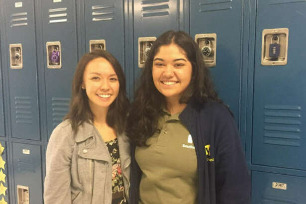 Erica Kang (left) a teacher at Yes Prep Southeast, welcomed Bitia Alanis and her family into her home after the Alanis family's home was damaged in Hurricane Harvey.