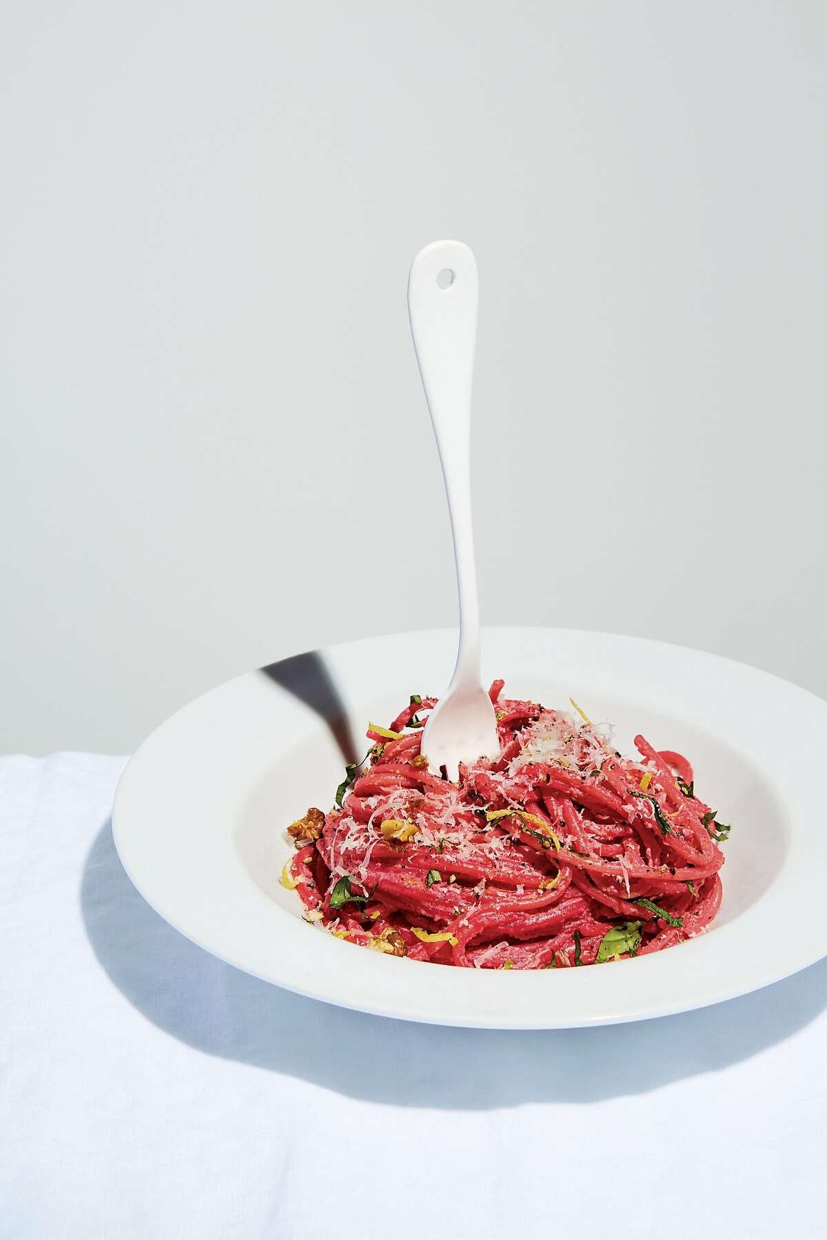 Elettra Wiedemann's Pink spaghetti from �Cherry Bombe: The Cookbook� edited by Kerry Diamond and Claudia Wu (Clarkson Potter; 256 pages; $35)