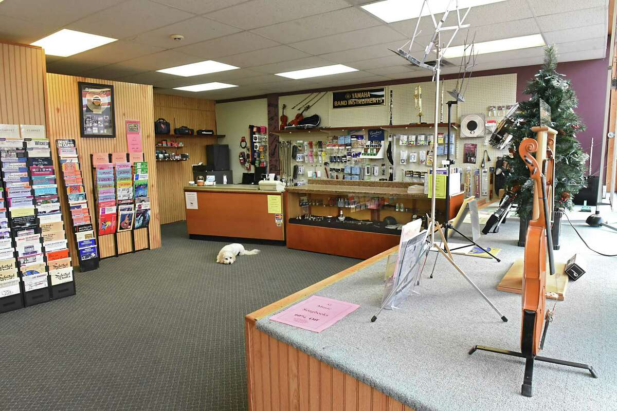Interior of Northeast Music which is closing after 39 years on Monday, Nov. 20, 2017 in Latham, N.Y. (Lori Van Buren / Times Union)