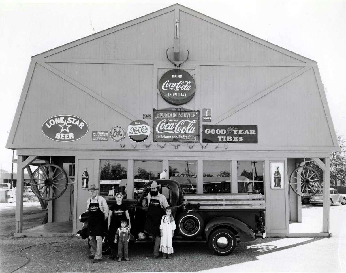 The Goode family, circa 1977: Joe Dixie, from left, Liz Goode, Levi Goode, Jim Goode and Jana Goode. The restaurant empire was built on the Goode family story.