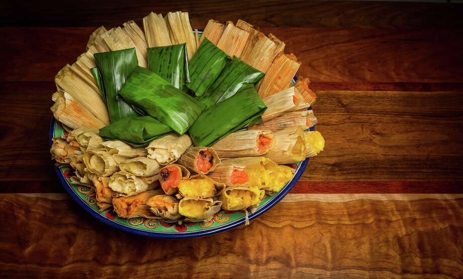 Assorted savory and sweet tamales from Arnaldo Richards' Picos, which begins its annual holiday tamale sales from its tamale stand on Kirby on Nov. 15. Photo: Nick De La Torre, Owner