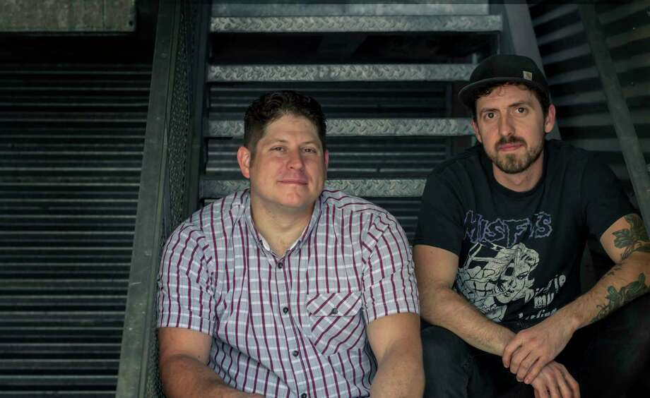 Sean Jensen, left, and chef Jason Vaughan are partners in Nancy's Hustle. Photo: Courtesy Photo