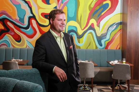 Sommelier Nate Rose of OxBow 7, the new restaurant in the Le Meridien hotel downtown. His wine of choice is Schiopetto Ribolla Gialla.  (For the Chronicle/Gary Fountain, November 14, 2017)