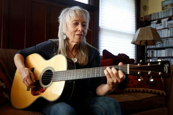 Bluegrass musician Laurie Lewis is seen at her home in Berkeley, Calif. on Friday, Nov. 17, 2017. Lewis caps off her long tour with a performance at Berkeley's Freight & Salvage on Saturday, Nov. 25.
