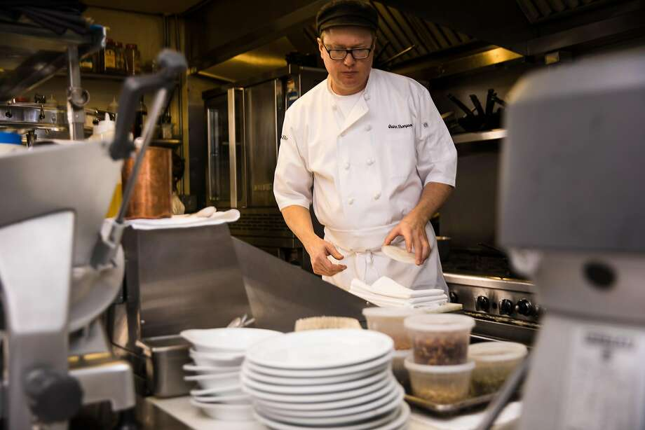 Il Grillo executive chef Quinn Thompson prepares mafaldine pasta. Photo: Mason Trinca, Special To The Chronicle