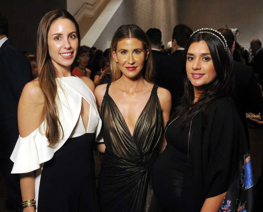 From left: Lindsey Amiralai, Melissa Aron and Atessa Zafer at the Art of the Islamic World Gala at the Museum of Fine Arts Friday Nov.17,2017. (Dave Rossman Photo) Photo: Dave Rossman, For The Chronicle / Dave Rossman