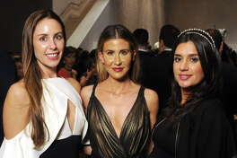 From left: Lindsey Amiralai, Melissa Aron and Atessa Zafer at the Art of the Islamic World Gala at the Museum of Fine Arts Friday Nov.17,2017. (Dave Rossman Photo)