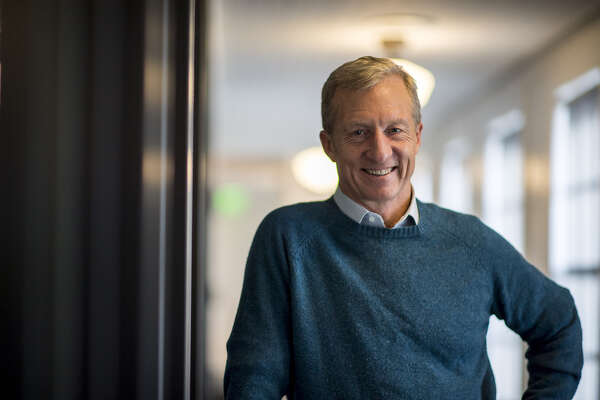 Tom Steyer, founder of Farallon Capital Management and president of NextGen Climate Action Committee, after a Bloomberg Television interview in San Francisco, California, on Feb. 16, 2017. (