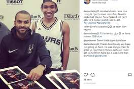 damn.danny21: Another dream came true today & I got to meet one of my favorite basketball players Tony Parker. I still can't believe it. A day I won't ever forget #gospursgo #spursnation