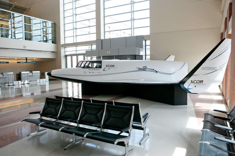 In this 2015 file photo, the XCOR Lynx is on display at the Midland & Space Port terminal. XCOR has filed for bankruptcy. Photo: MRT File / © 2014 Midland Reporter Telegram. All Rights Reserved.
