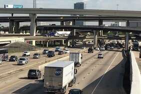 Traffic moves northbound on Interstate 69 near Loop 610 on Monday in Houston. Reconstruction of the Loop 610 interchange with I-69 near Uptown will start in early 2018, according to the Texas Department of Transportation.