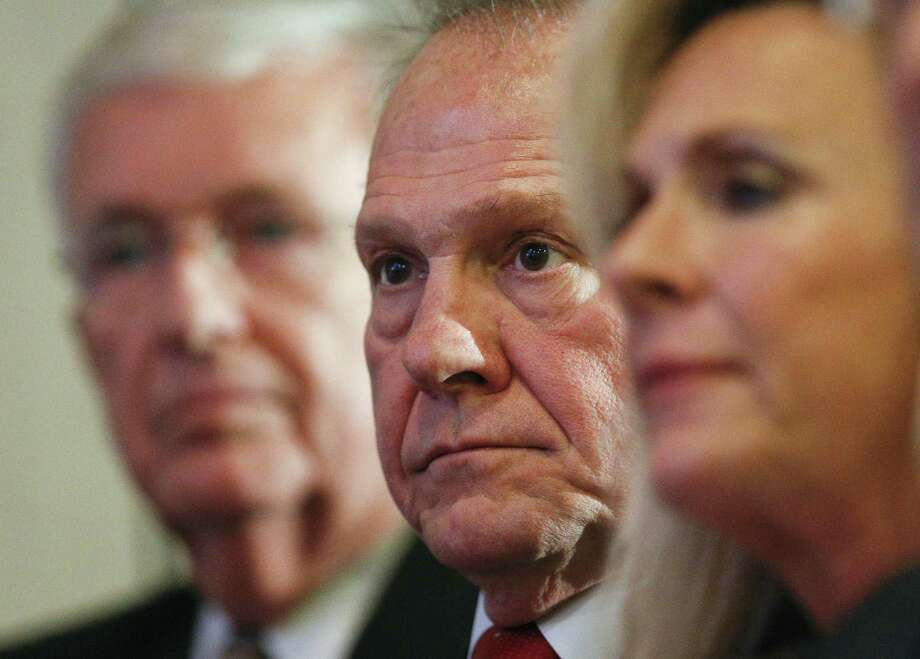 Former Alabama Chief Justice and U.S. Senate candidate Roy Moore waits to speak at a news conference, Thursday in Birmingham, Alabama. The Christian defense of Moore has made the Christian right unrecognizably Christian. Photo: Brynn Anderson /Associated Press / Copyright 2017 The Associated Press. All rights reserved.