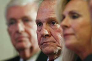 Former Alabama Chief Justice and U.S. Senate candidate Roy Moore waits to speak at a news conference, Thursday in Birmingham, Alabama. The Christian defense of Moore has made the Christian right unrecognizably Christian.