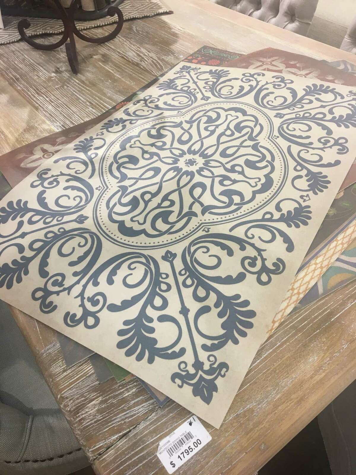 Vinyl floor mats ($38) at LaurieÂ?'s Home Furnishings, 10730 F.M. 2920, Tomball