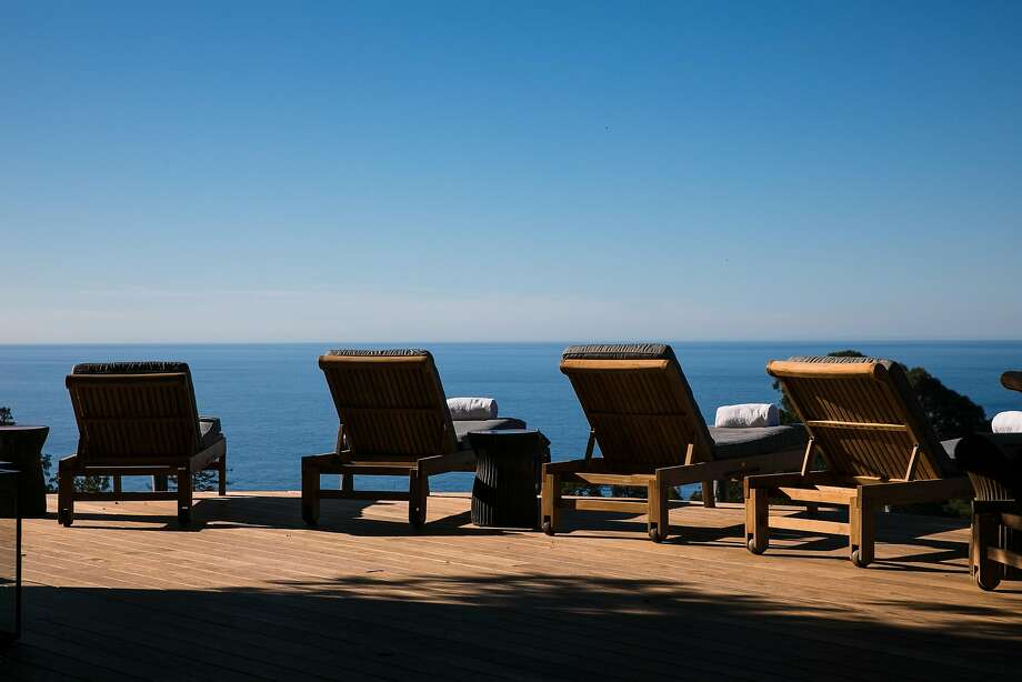 The patio aSpa Alila, which has cabanas with clear panels that allow views of Big Sur's wooded hillsides. Photo: Mason Trinca, Special To The Chronicle