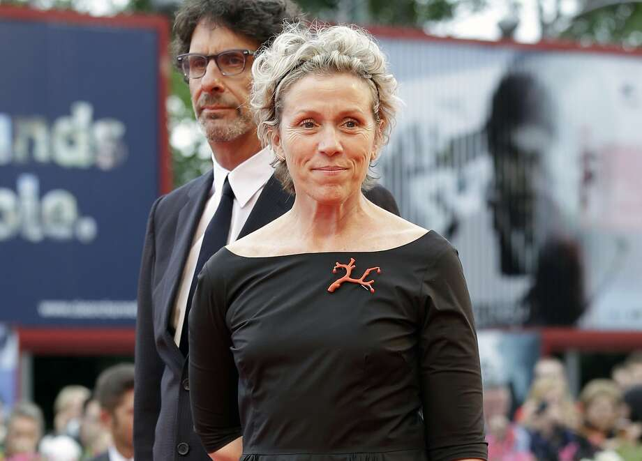FILE - In this Sept. 1, 2014 file photo, actress Frances McDormand appears at the 71st edition of the Venice Film Festival, in Venice. McDormand stars as a woman consumed with rage because the rape and murder of her teenage daughter has gone unsolved after a year in �Three Billboards Outside Ebbing, Missouri.� (AP Photo/Andrew Medichini, File) Photo: Andrew Medichini, Associated Press