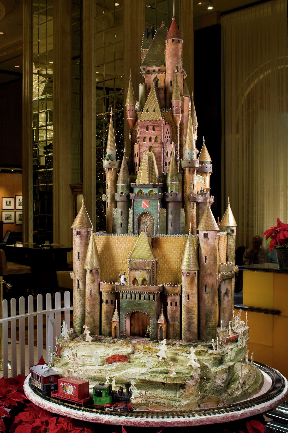 The medieval sugar castle after its unveiling at the Westin St. Francis in San Francisco in 2008.