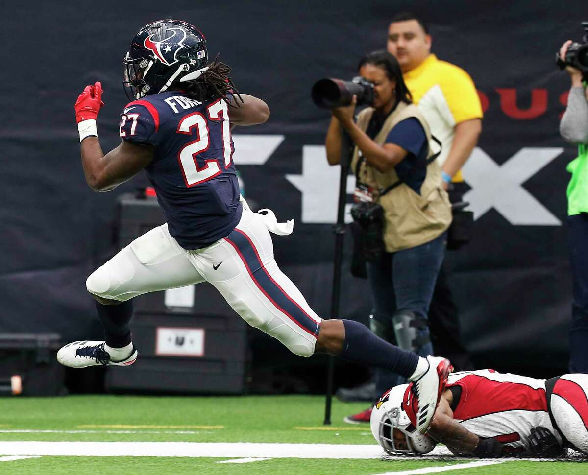 Texans running back D'Onta Foreman has not played since being injured during a win over the Cardinals last November.