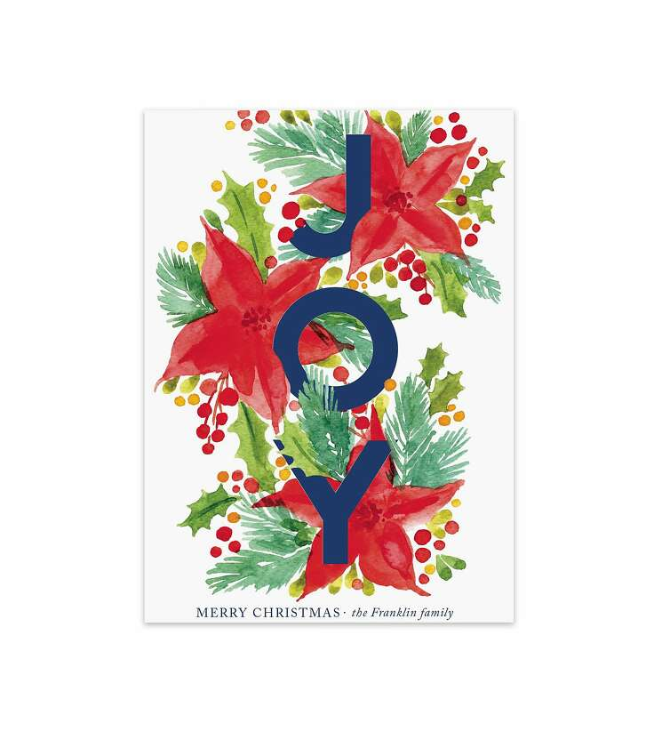 "Holiday cards curated by Lady Gaga's Born This Way Foundation, and created by artists working with Minted, are available in packages of 100 cards, and ranging from $167 to $205, depending on design. Seen here: the ""Holiday Botanicals"" holiday card by Alexandra Dzh;100 cards for $167."