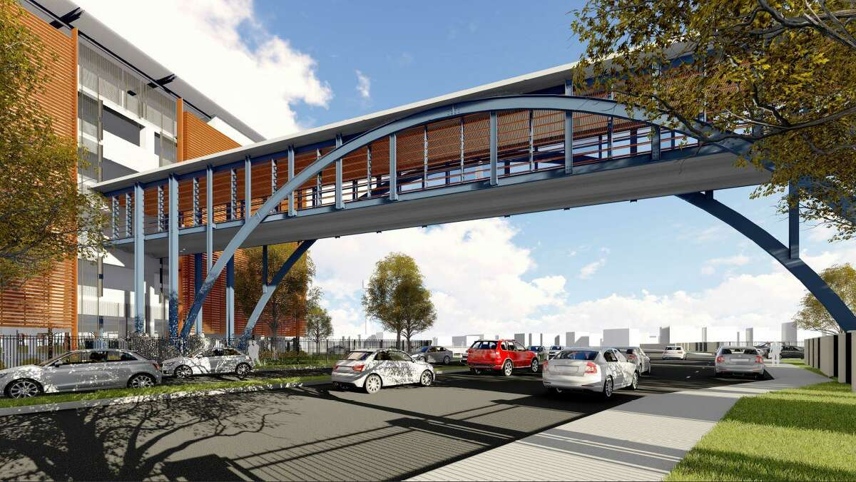 The San Antonio food retailer will spend an estimated $19 million to build the garage and bridge, according to a filing with the Texas Department of Licensing and Regulation.
