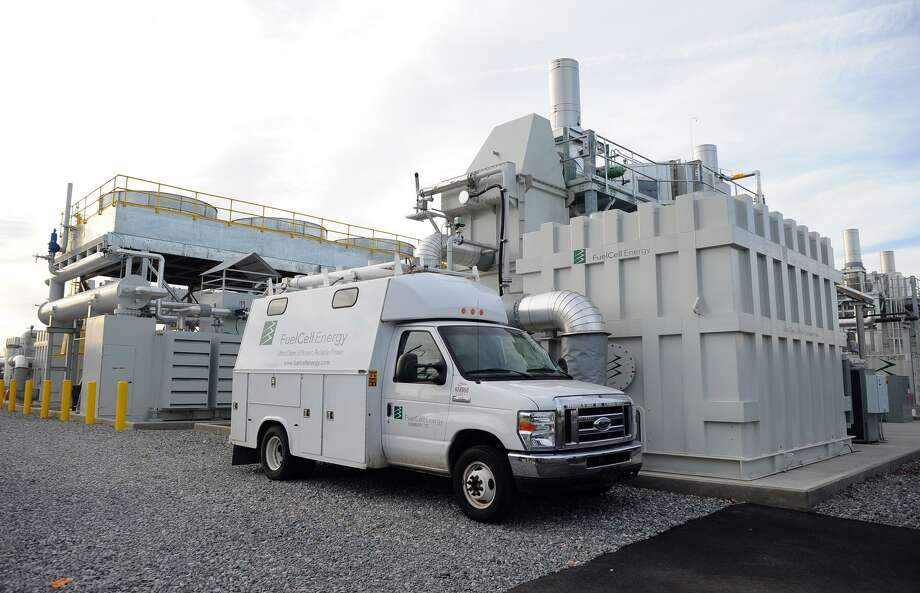 The $65 million, 14.9 megawatt fuel cell plant off of Railroad Avenue in Bridgeport can supply about 15,000 homes with energy. Photo: Christian Abraham / Christian Abraham / Connecticut Post