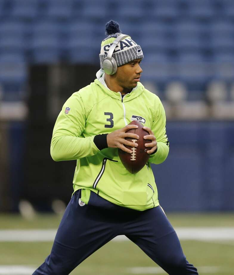 Seattle Seahawks quarterback Russell Wilson warms-up on the field before an NFL football game against the Atlanta Falcons, Monday, Nov. 20, 2017, in Seattle. (AP Photo/Stephen Brashear) Photo: Stephen Brashear/AP