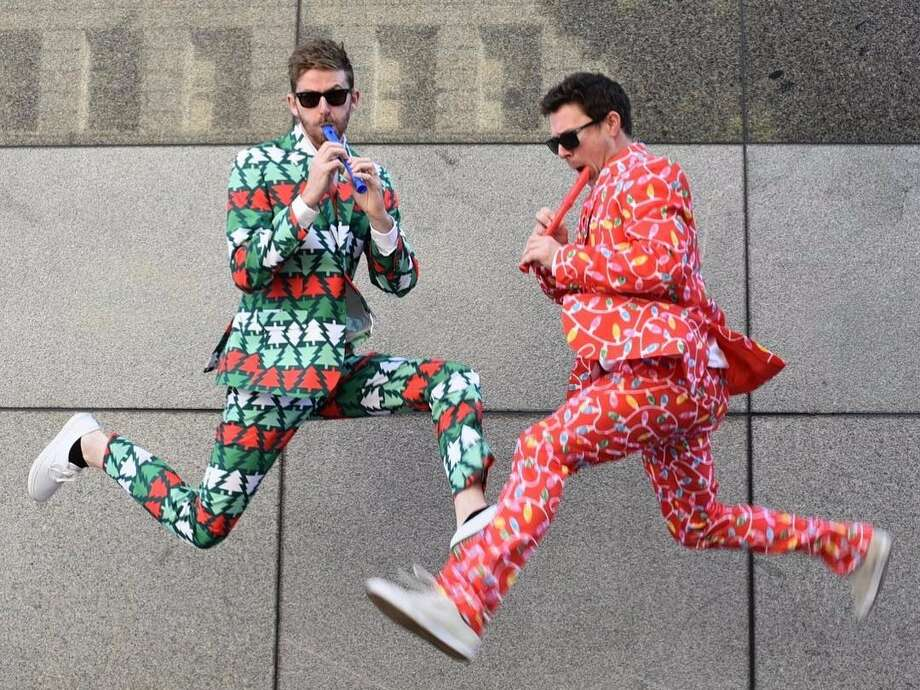 TIPSY ELVES TANGLE WRANGLER CHRISTMAS PARTY SUIT: Turn your holiday season into a classy affair. AMAZON LINK Photo: Www.instagram.com/tipsyelves