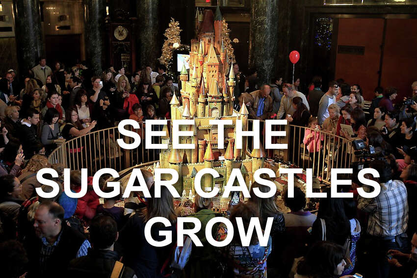 The sugar castles at the Westin St. Francis Hotel in San Francisco's Union Square have grown significantly more intricate through the years. Click through to see how they've evolved.