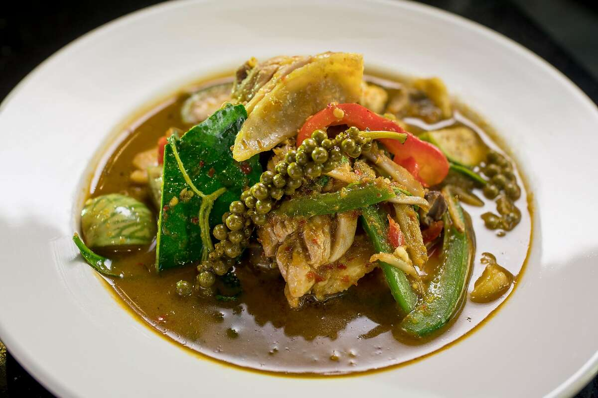 Thai Spicy Curry with Organic Chicken at Essan Classic in San Francisco, Calif., is seen on November 18th, 2017.