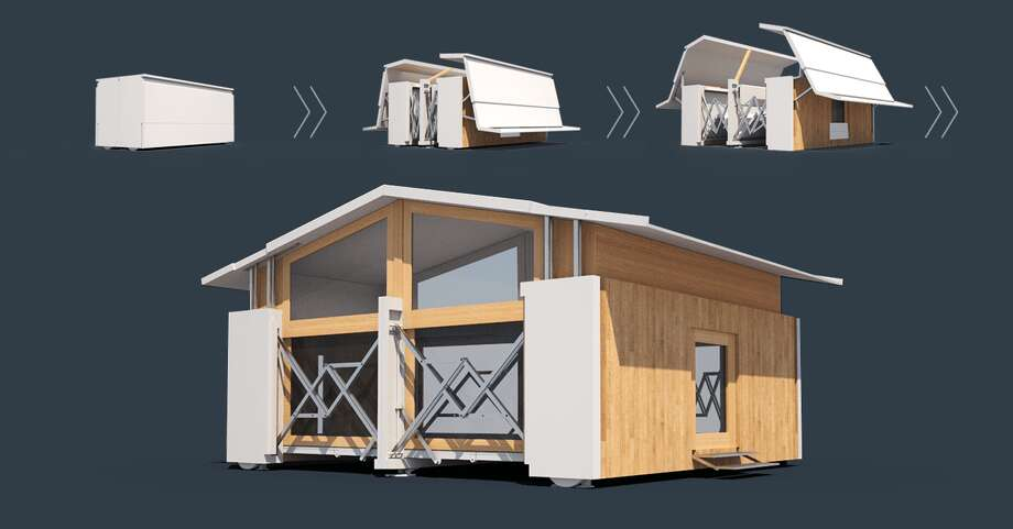 Technology company Ten Fold has developed dozens of designs for self-deploying pop-up structures, which could help displaced victims of natural disasters.See some of Ten Fold's fascinating pop-up style building designs. Photo: Ten Fold