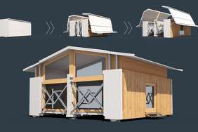 Technology company Ten Fold has developed dozens of designs for self-deploying pop-up structures, which could help displaced victims of natural disasters.      See some of Ten Fold's fascinating pop-up style building designs.