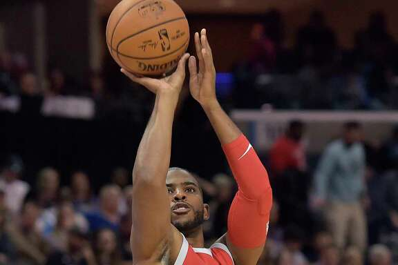 Chris Paul realizes an area he needs to adjust is to follow the Rockets' philosophy of never hesitating to shoot when open.