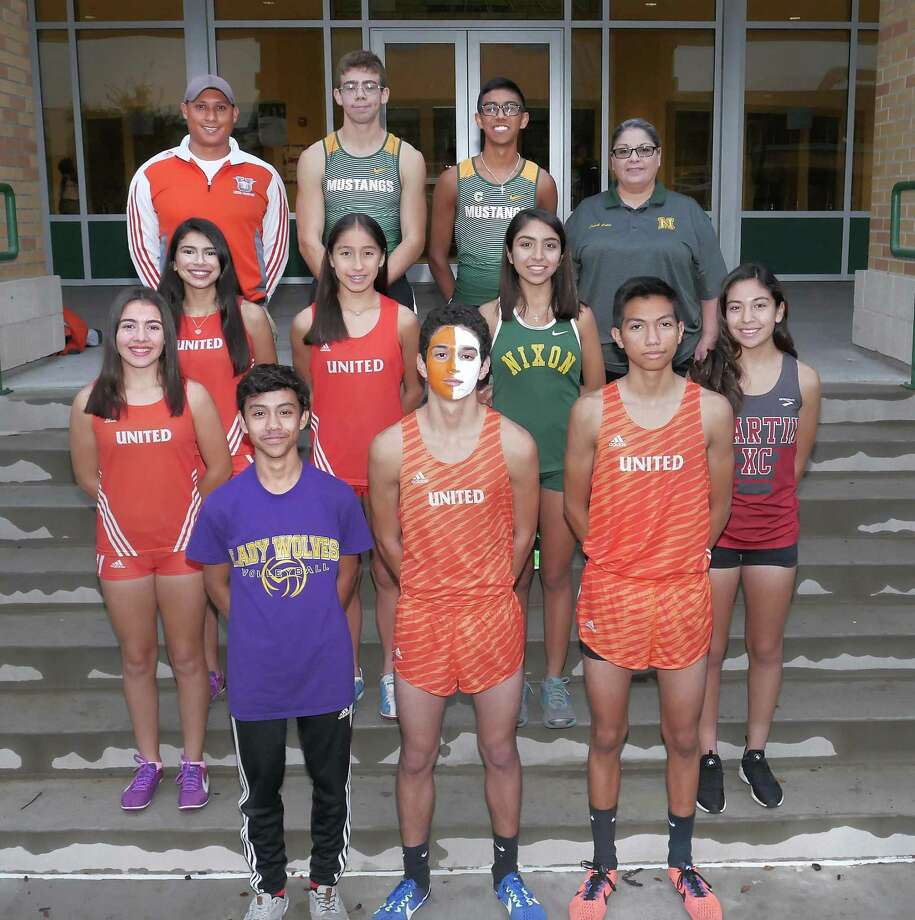The 2017 Laredo Morning Times All-City team includes, in the front row, Chris Navarrete, Nicholas Martinez and Marcos Muñoz. In the second row are Magaly Lopez, Sabrina Peña, Elisa Perlata, Alexa Rodriguez and Samantha Gonzalez, and in the back row are coach Eddie Gonzalez, Sean E. Bratton, Juan Salinas III and coach Lee Colin. Photo: Cuate Santos /Laredo Morning Times / Laredo Morning Times