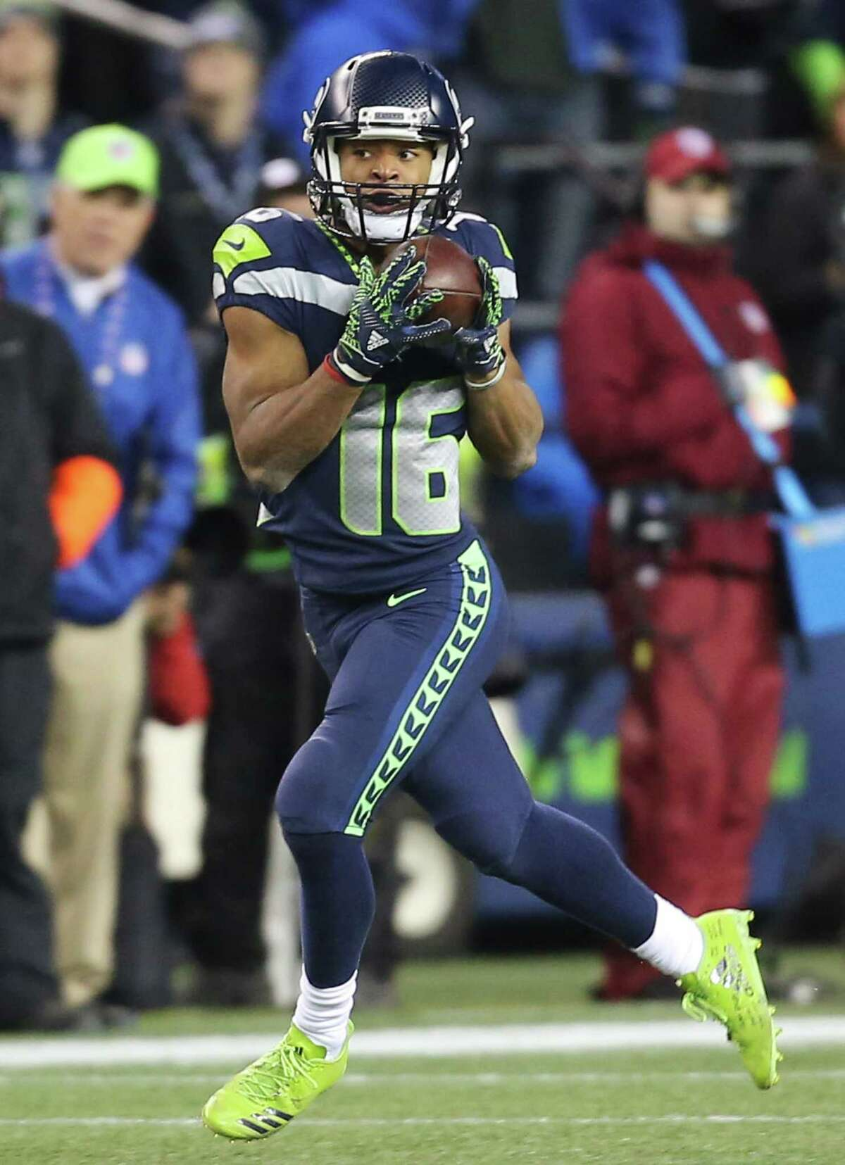 Tyler Lockett leads the NFL in pass interference yards drawn. How much faith do you have in him to not only haul in deep throws, but to also potentially draw a flag?  Wilson: