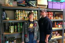 Heather and Leo Strike, of Mills Township, have been helped by the food pantry at Greater Midland's North Family Center.
