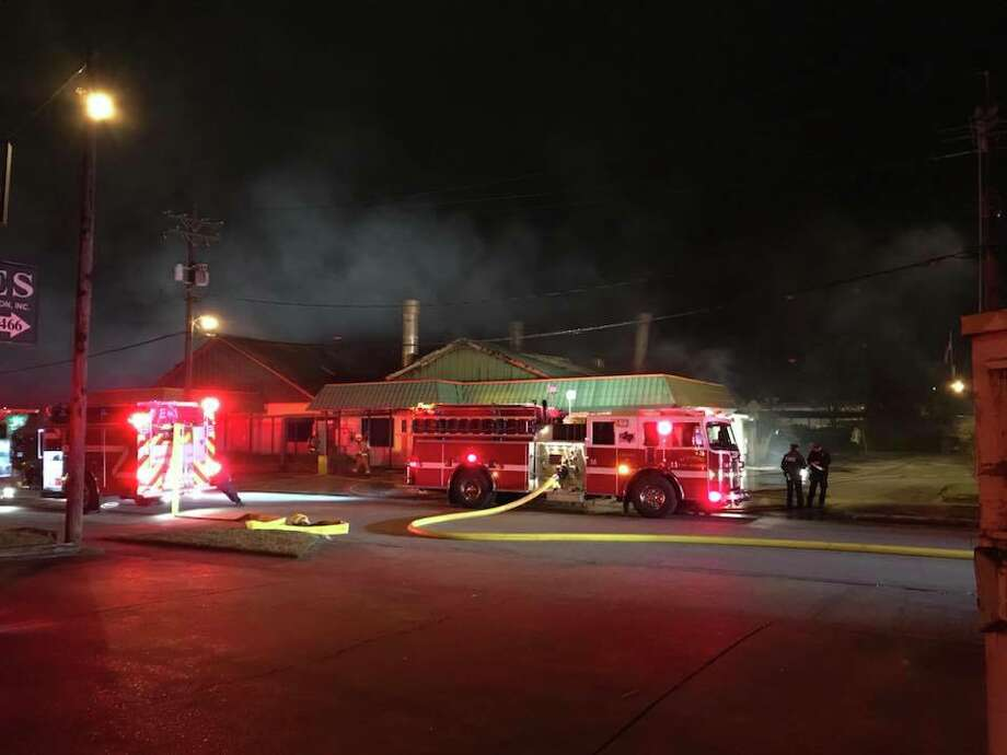 What appears to be a suspicious fire broke out at the Torres Collision shop on Laurel Avenue around 2:32 a.m. on Tuesday morning, according to the Beaumont Fire Department. Photo: BFD
