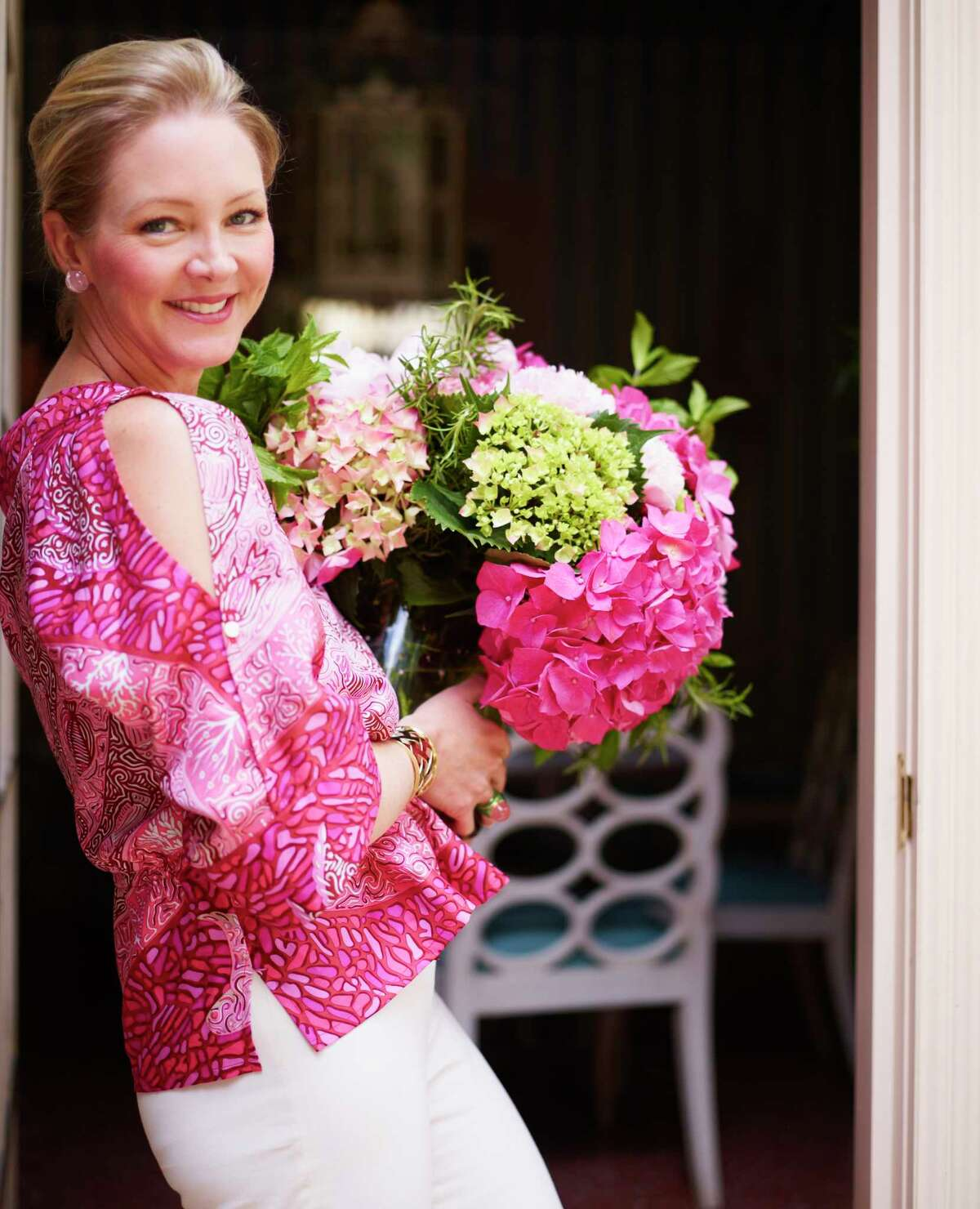 """Flowers are an essential part of any party, says Danielle Rollins, the author of """"Soiree: Entertaining with Style."""""""