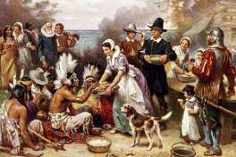 1621: The year the early settlers of Plymouth Colony hand Native Americans held a three-day feast to celebrate a bountiful harvest.